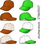 brown and green baseball caps   ... | Shutterstock .eps vector #27865027