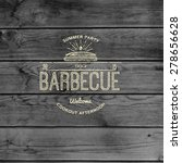 bbq badges logos and labels for ... | Shutterstock .eps vector #278656628
