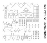 farm line organic set design | Shutterstock .eps vector #278661428