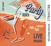summer beach party poster with... | Shutterstock .eps vector #278661788