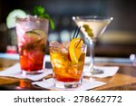 colorful cocktails on the bar... | Shutterstock . vector #278662772