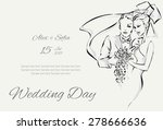 wedding day invitation with... | Shutterstock .eps vector #278666636