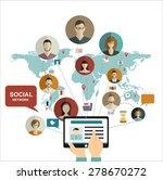 social media network concept...   Shutterstock .eps vector #278670272