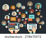 global social network abstract... | Shutterstock .eps vector #278670572