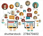 global social network abstract... | Shutterstock .eps vector #278670602