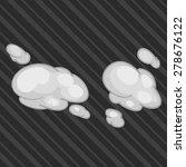 illustration 2d smoke dust.