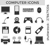 Computer Silhouette Symbol...
