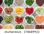 super food selection for health ... | Shutterstock . vector #278689922