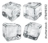 set of four opaque ice cubes in ... | Shutterstock .eps vector #278698352