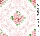 vintage seamless pattern with... | Shutterstock .eps vector #278702165