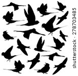barn swallow set silhouettes | Shutterstock .eps vector #278703485