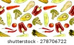 pattern with vegetables ... | Shutterstock . vector #278706722