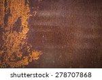 old rusty brown metal wall... | Shutterstock . vector #278707868