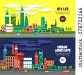 flat design concept city... | Shutterstock .eps vector #278722166