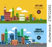 flat design concept city... | Shutterstock .eps vector #278722202