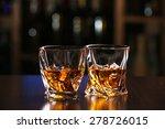 glasses of whiskey on bar...   Shutterstock . vector #278726015