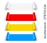 set of color paper sticker... | Shutterstock .eps vector #278741126