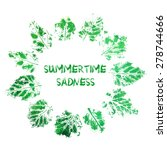 imprint of the poplar leaf.... | Shutterstock .eps vector #278744666