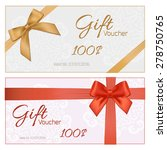 voucher template with floral... | Shutterstock .eps vector #278750765