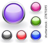 six glossy buttons in various... | Shutterstock .eps vector #27875395