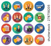 insurance and risk cases icons... | Shutterstock .eps vector #278758205