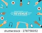 vector revenue concept  template | Shutterstock .eps vector #278758352