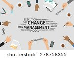 vector change management... | Shutterstock .eps vector #278758355