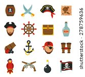 Pirate Accessories Symbols Fla...