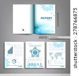 vector set of templates for... | Shutterstock .eps vector #278766875