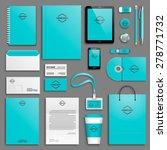 corporate identity template set....   Shutterstock .eps vector #278771732