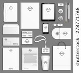 corporate identity template set.... | Shutterstock .eps vector #278771768