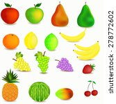 colorful healthy fruit cartoon... | Shutterstock .eps vector #278772602