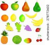 colorful healthy fruit cartoon...   Shutterstock .eps vector #278772602