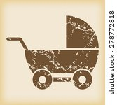 grungy brown icon with image of ... | Shutterstock .eps vector #278772818