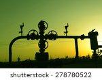 oil pipeline valve under the... | Shutterstock . vector #278780522