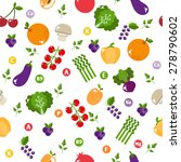 seamless pattern with... | Shutterstock .eps vector #278790602