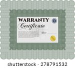 sample warranty template. with... | Shutterstock .eps vector #278791532