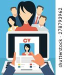 job interview concept with... | Shutterstock .eps vector #278793962