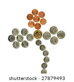 us flower of coins. isolated... | Shutterstock . vector #27879493