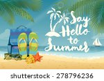 vector summer background with... | Shutterstock .eps vector #278796236