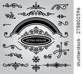 vector set of decorative... | Shutterstock .eps vector #278802596