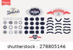 50 Premium design elements. Great for retro vintage logos. Starbursts, frames and ribbons Designers Collection | Shutterstock vector #278805146