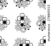 seamless wallpaper pattern with ... | Shutterstock .eps vector #278805515