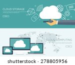 cloud computing illustration... | Shutterstock .eps vector #278805956