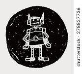 robot doodle | Shutterstock . vector #278827736