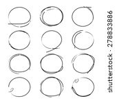 sketched circles  highlighting... | Shutterstock .eps vector #278833886