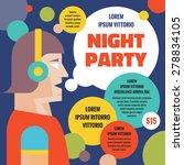 dj night party. vector concept... | Shutterstock .eps vector #278834105