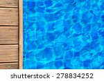 swimming pool and wooden deck... | Shutterstock . vector #278834252