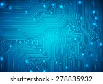 circuit board vector blue... | Shutterstock .eps vector #278835932