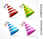 vector party hat set isolated... | Shutterstock .eps vector #278845526
